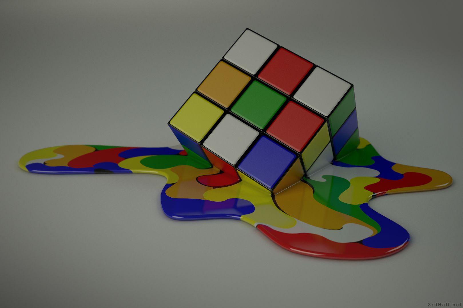 rubik's cube wallpaper hd for desktop background | iphone | ipad