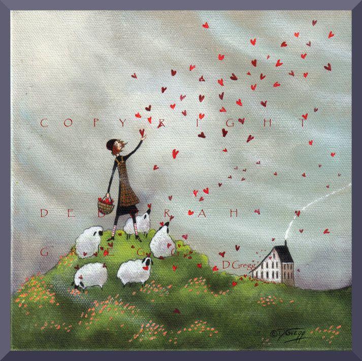 "Deborah Gregg, ""Where She Goes Love Follows"".  I love those sheep."