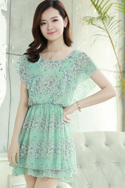 Nice Ruffled Chiffon Dress