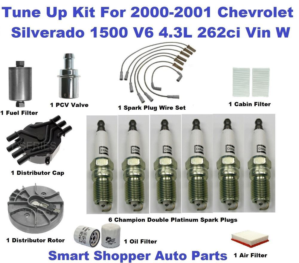 Tune Up Kit For 00 01 Chevrolet Silverado 1500 Spark Plug Fuel Air 1990 Chevy Filter Location Oil Aftermarketproducts