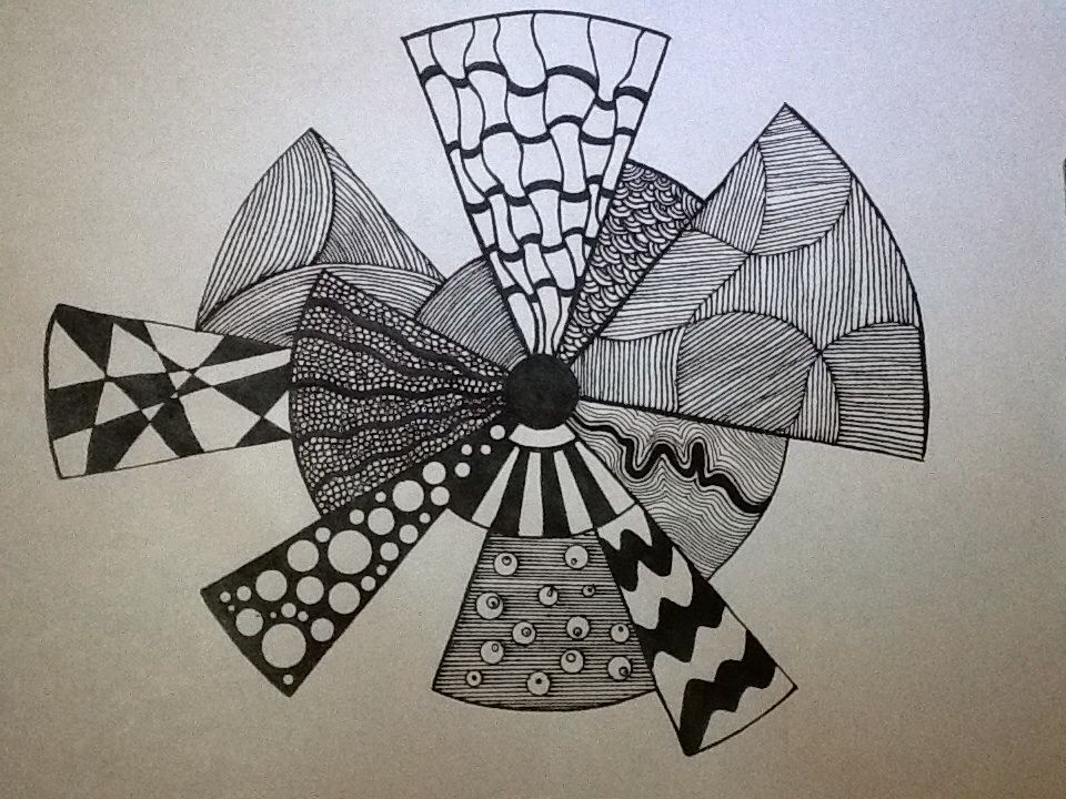 Zentangle made by Kitty