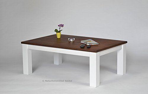 Couchtisch Wohnzimmer Tisch Rio Landhaus 120x80cm Pinie Massivholz 2 Farbig