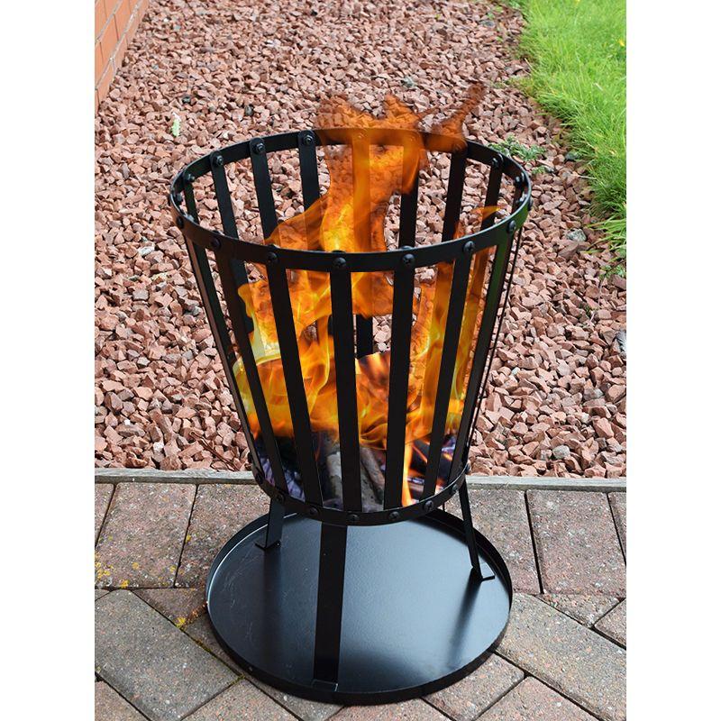 Fire patio basket garden heater outdoor brazier metal wood