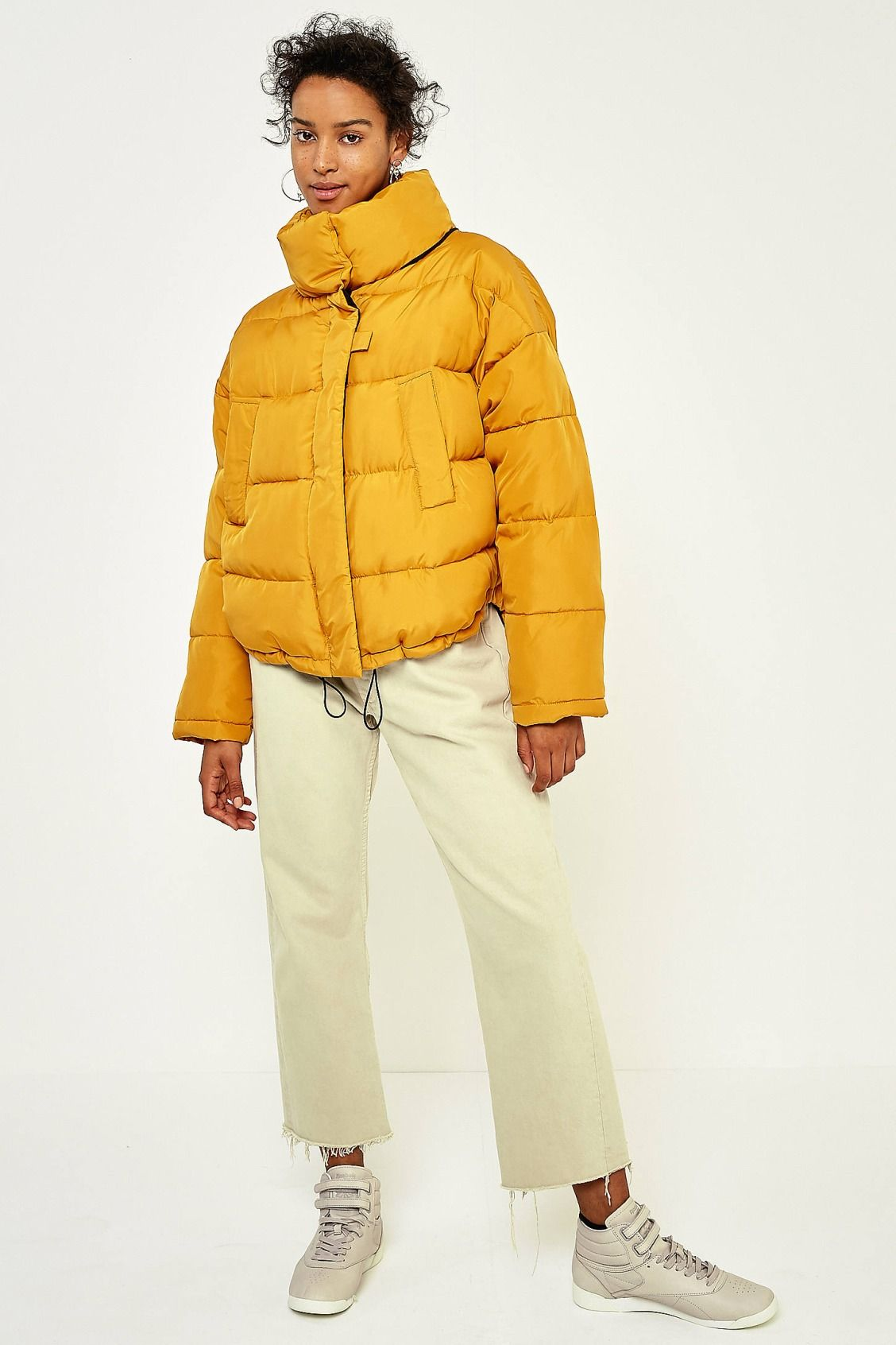 Light Before Dark Yellow Pillow Puffer Jacket | ouais