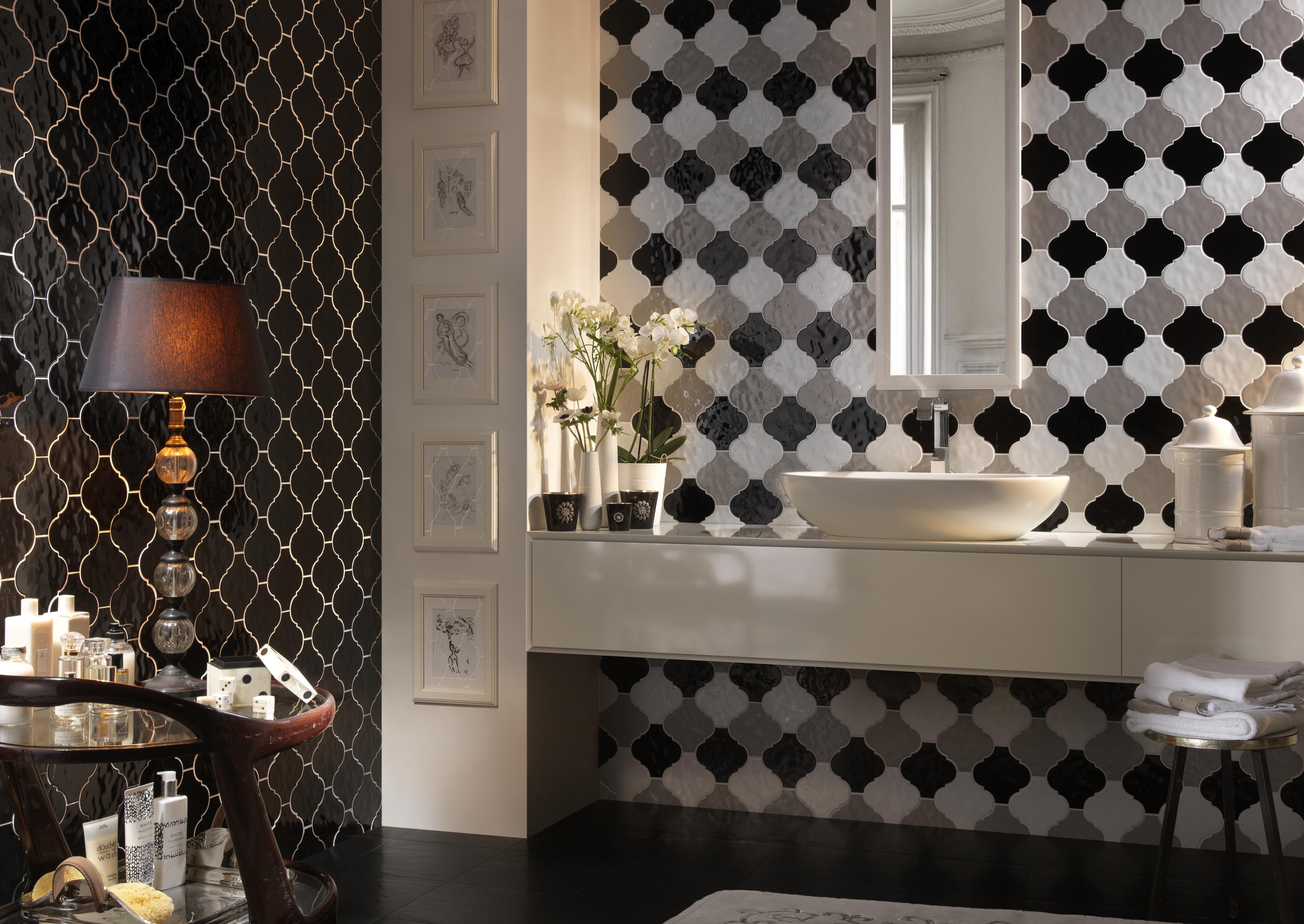 arabesque wall tiles from tonalite lantern tile bathroom design arabesque