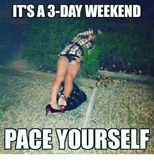 20 Best 3 Day Weekend Memes Sayingimages Com Weekend Meme Weekend Humor Fun Weekend Quotes