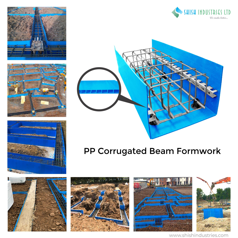 Pp Corrugated Beam Formwork Reflective Insulation Beams Corrugated