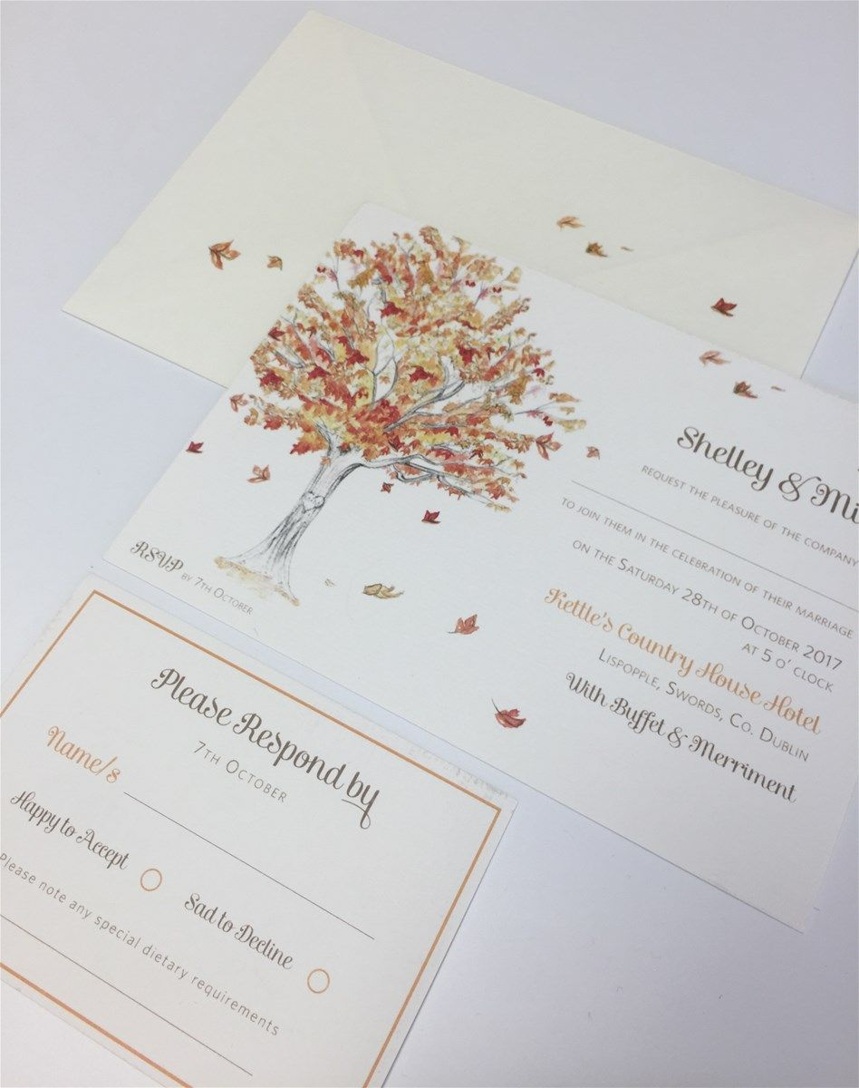 autumn tree wedding invitation by appleberry press | Autumn: Wedding ...