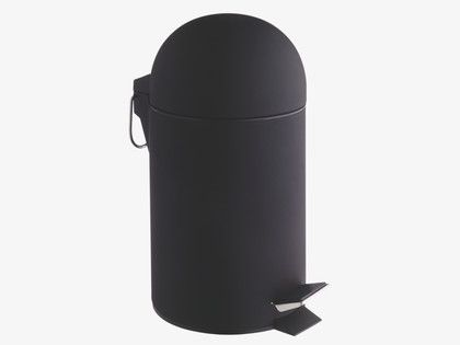 Lima Black Soft Touch Bathroom Bin