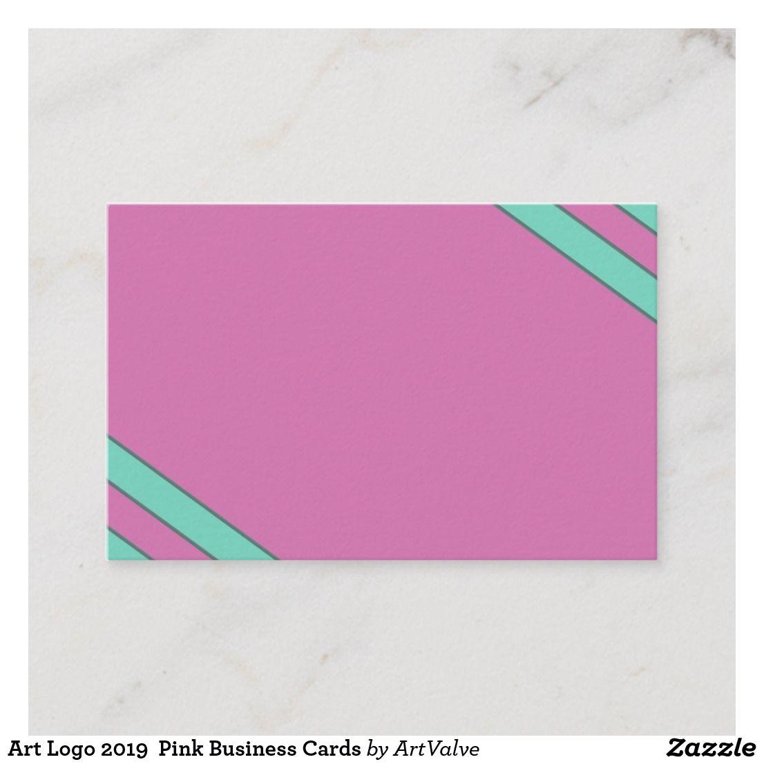 Art Logo 2019 Pink Business Cards Zazzle Co Uk Pink Business