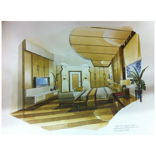 my master piece. Master bedroom perspective. Mini project of one ...