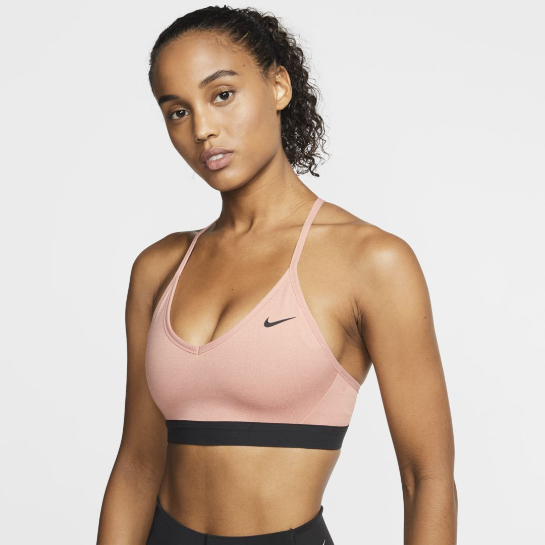 Nike Indy Women S Light Support Sports Bra Pink Quartz Sports Bra Nike Sports Bra Sports Bra Design