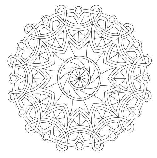 Famoso Mandala disegno da colorare gratis 20 difficile complesso | Pagine TA64
