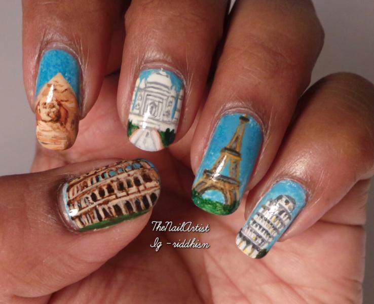Travel nails taj mahal eiffel tower the great pyramid leaning travel nails taj mahal eiffel tower the great pyramid leaning tower of prinsesfo Images