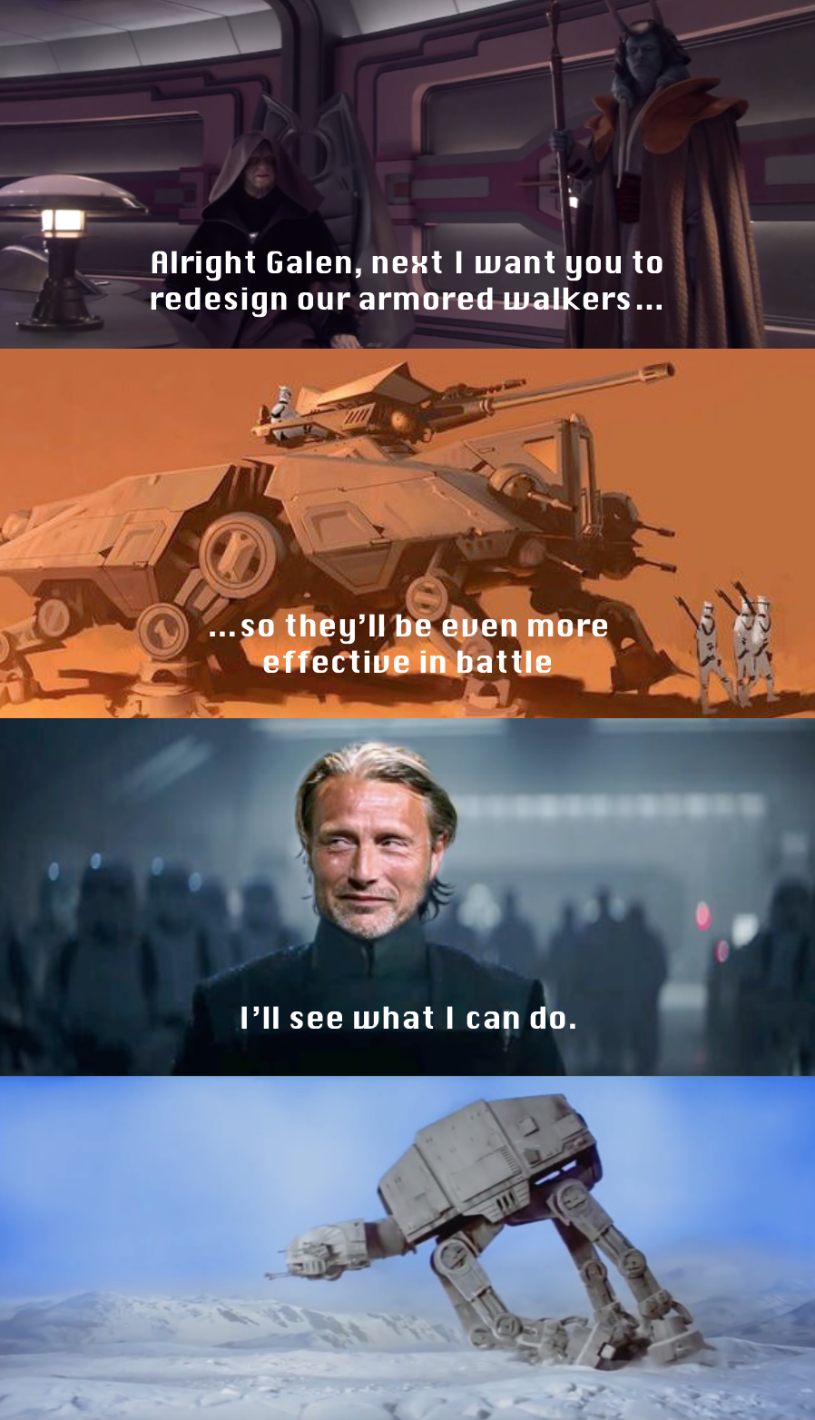 Ironic Isn T It I Can Save The Ones I Love From Reposts But Not Myself Star Wars Jokes Funny Star Wars Memes Star Wars Facts