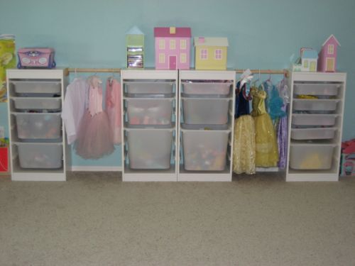 trofast toy storage from ikea great way to add storage for dress up clothes for emma. Black Bedroom Furniture Sets. Home Design Ideas