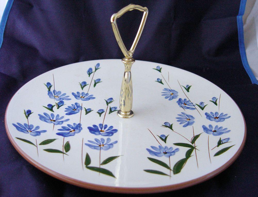 Stangl Pottery Tidbit Snack Tray Chicory Pattern & Stangl Pottery Tidbit Snack Tray Chicory Pattern   Pottery Trays ...