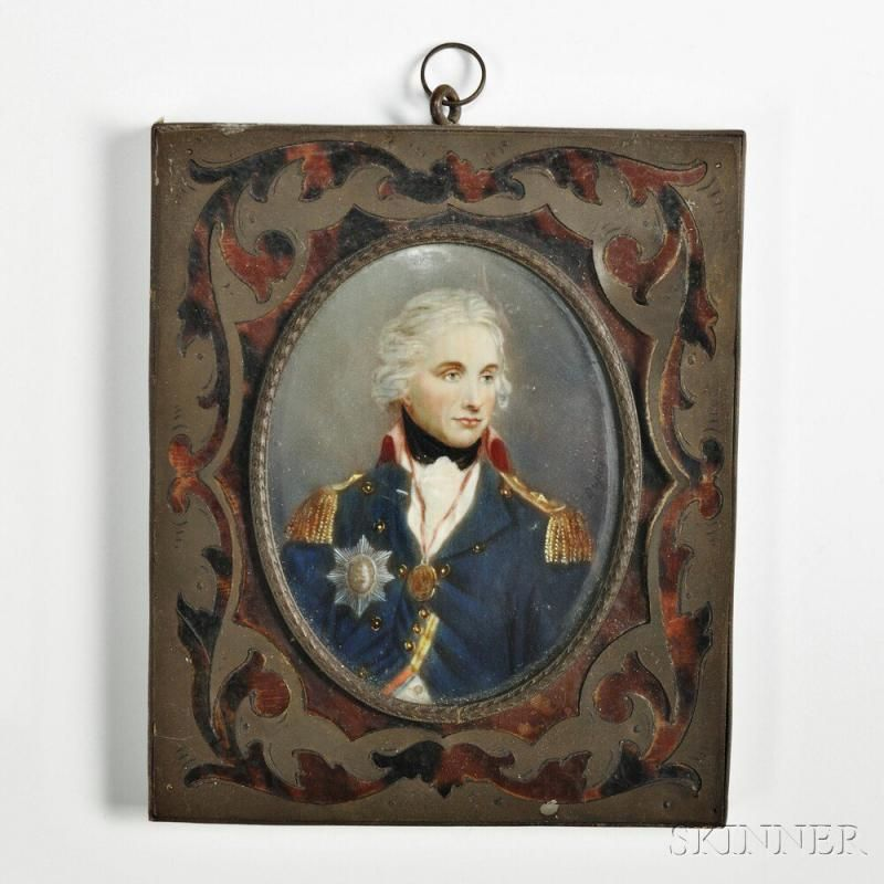 FAST DELIVERY MADE IN USA ADMIRAL LORD NELSON Miniature Dollhouse Picture