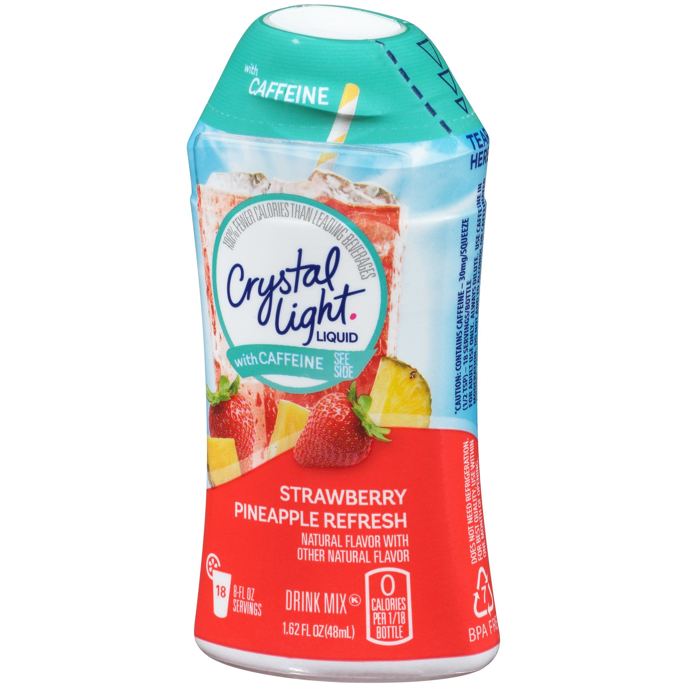 Crystal Light Liquid With Caffeine Strawberry Pineapple Refresh 1 62 Ounce You Can Get More Details Flavored Drinks Crystal Light Flavors Sugar Free Fruits