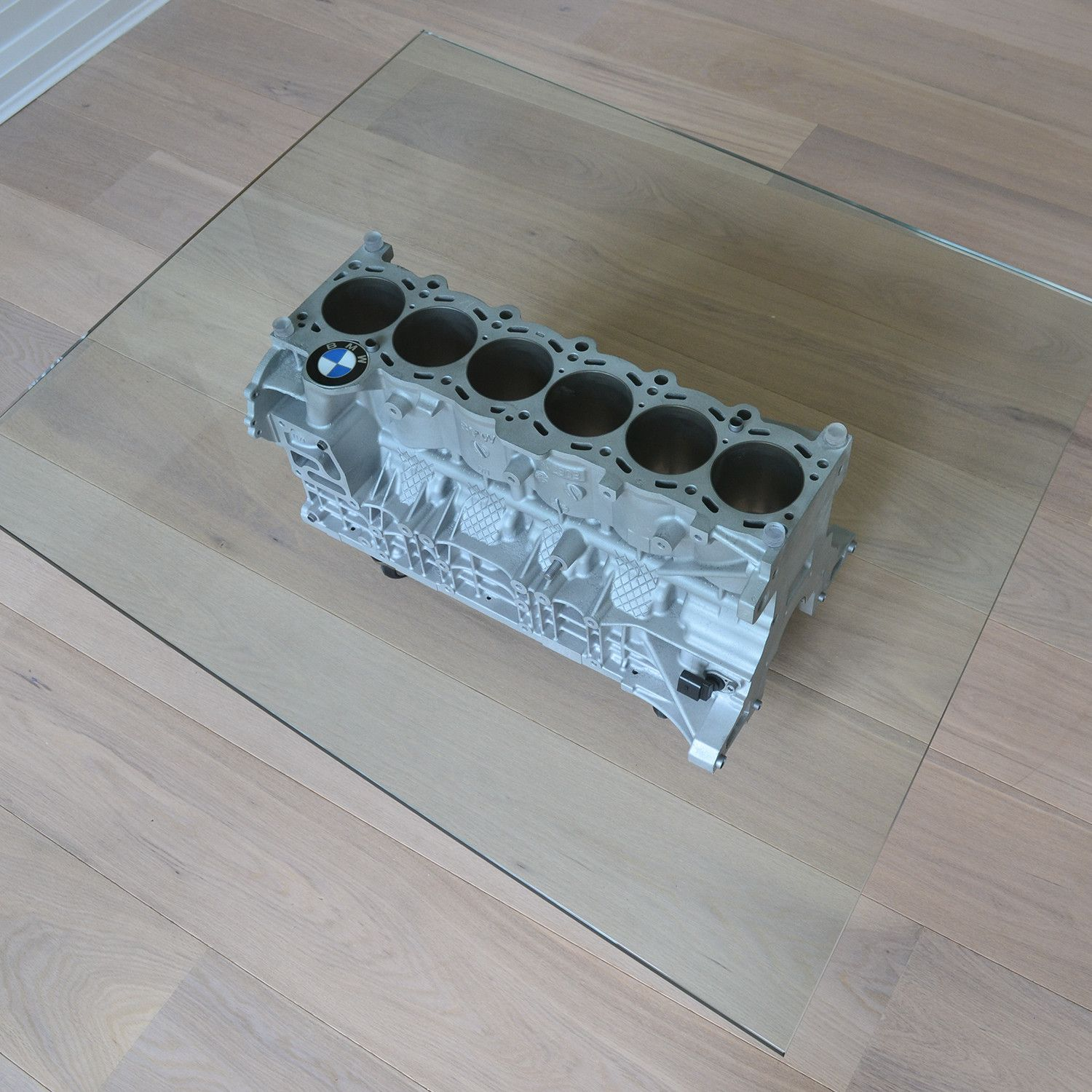 Straight V6 Bmw 330i Coffee Table Coffee Table Glass Top Table Engine Block Table [ 1500 x 1500 Pixel ]