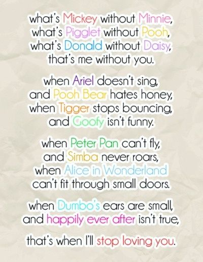 Cute Disney Love Quotes Sayings Sweet Disney Disney Quotes