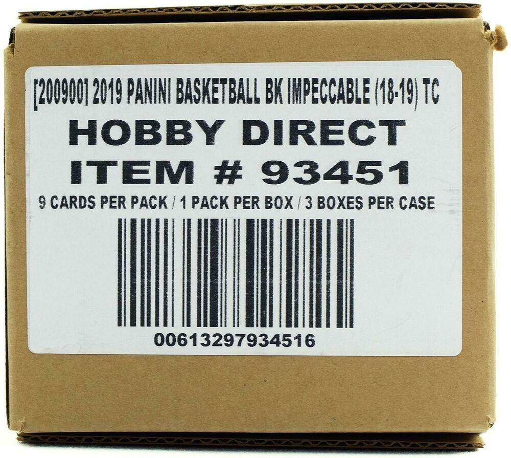 201819 panini impeccable basketball hobby 3box case
