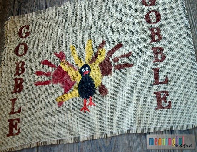 Handprint Turkey Placemats #handprintturkey