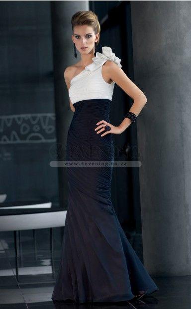Sexy Black One Shoulder Trumpet/Mermaid Evening Dress(JT4E-0624)