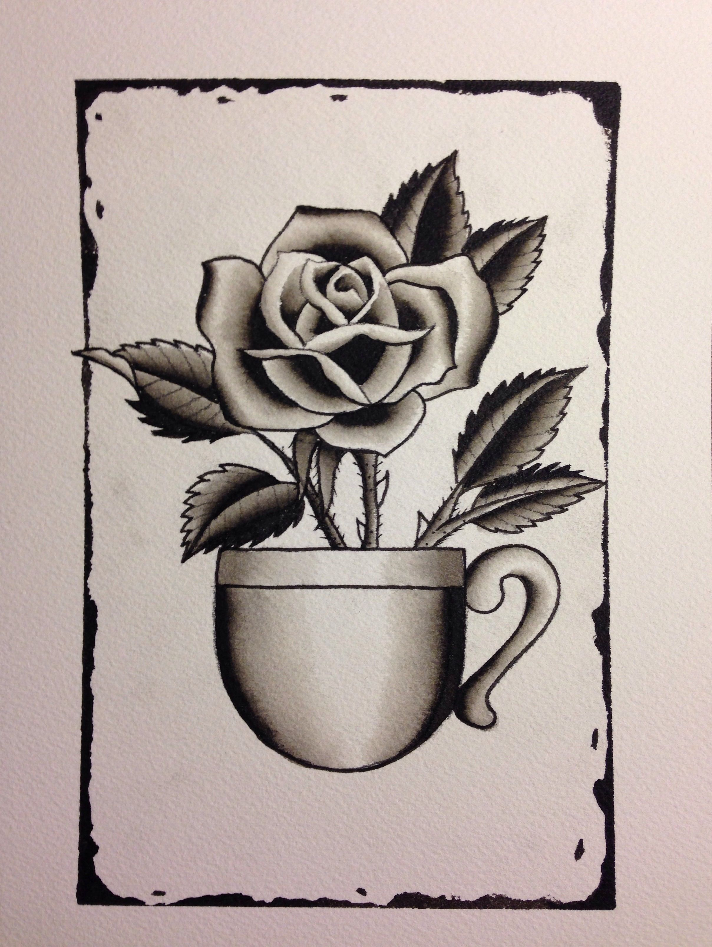 Black rose of coffee By Mike Attack  New York, NY For appointments inquires  Mikeattacktattoo@gmail.com Instagram @mikeattack_tattoo www.facebook.com/tattoosbyattack