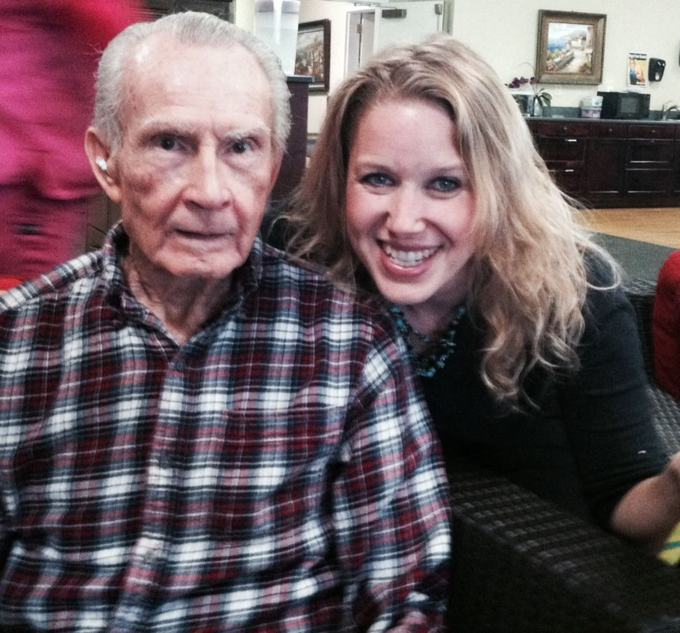 Life enrichment coordinator amy mccormack and resident
