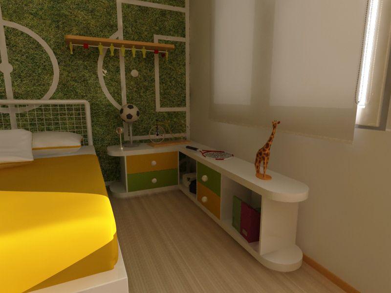 diseo de mobiliario para nio y decoracion con tematica deportiva cubo muebles
