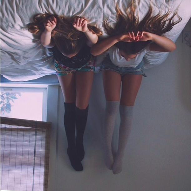 Two girls bedroom natural light