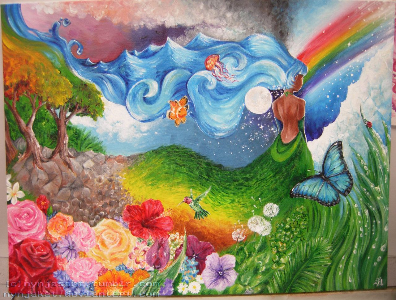 Mother Nature Art Mother Nature By Nynjakat On Deviantart Mother Nature Nature Paintings Art