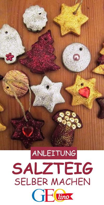 Wir zeigen euch Schritt für Schritt, wie ihr Christbaumschmuck aus Salzteig basteln könnt. #salzteig #basteln #weihnachten #selbermachen #weihnachtsbasteln #adventsbasteln #advent #vorweihnachtszeit #rezept #anleitung #bastelidee #bastelanleitung #bastelspass #weihnachtsdeko #bastelnmitkindern #christbaumschmuckbastelnkinder