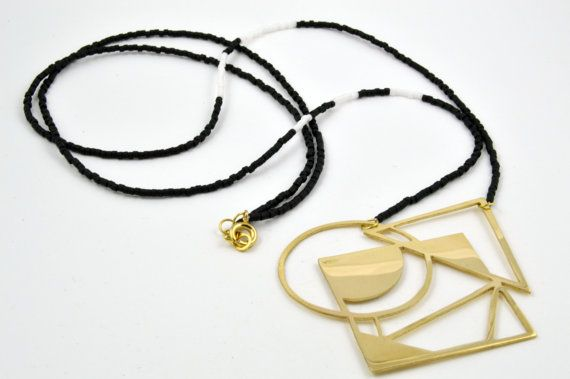 Brass Abstract Geometric Pendant Necklace (scheduled via http://www.tailwindapp.com?utm_source=pinterest&utm_medium=twpin&utm_content=post51706794&utm_campaign=scheduler_attribution)