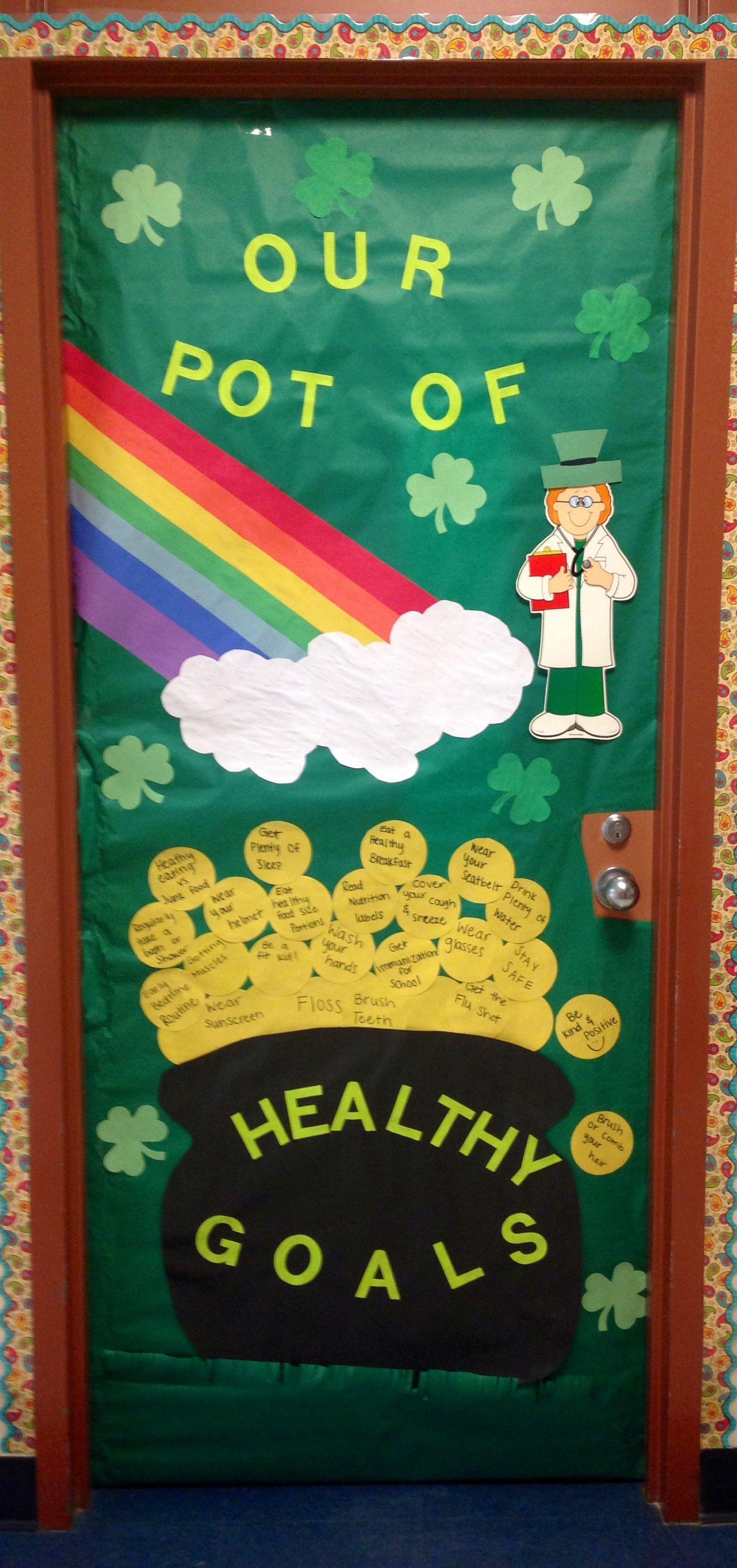 Rock Prairie Elementary School Nurse S Door Designed By Erin
