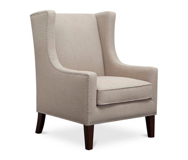 Jla Sarah Printed Fabric Accent Chair: JLA Sloane Fabric Accent Chair, Direct Ship