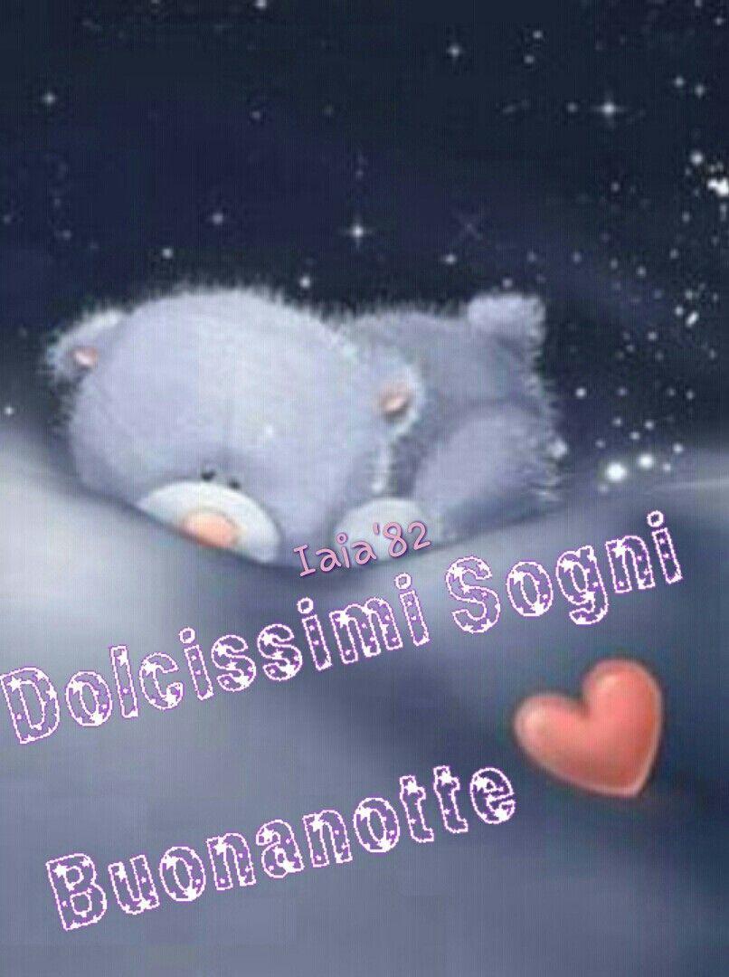 Buonanotte Orsetto Cuore Luna Stelle Buonanotte