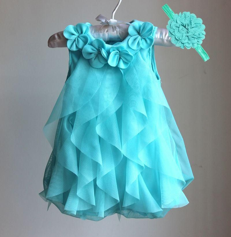 c16bfccf2 Chiffon Party Dress  Wedding Wear Infant to 1 Year Birthday Dress ...