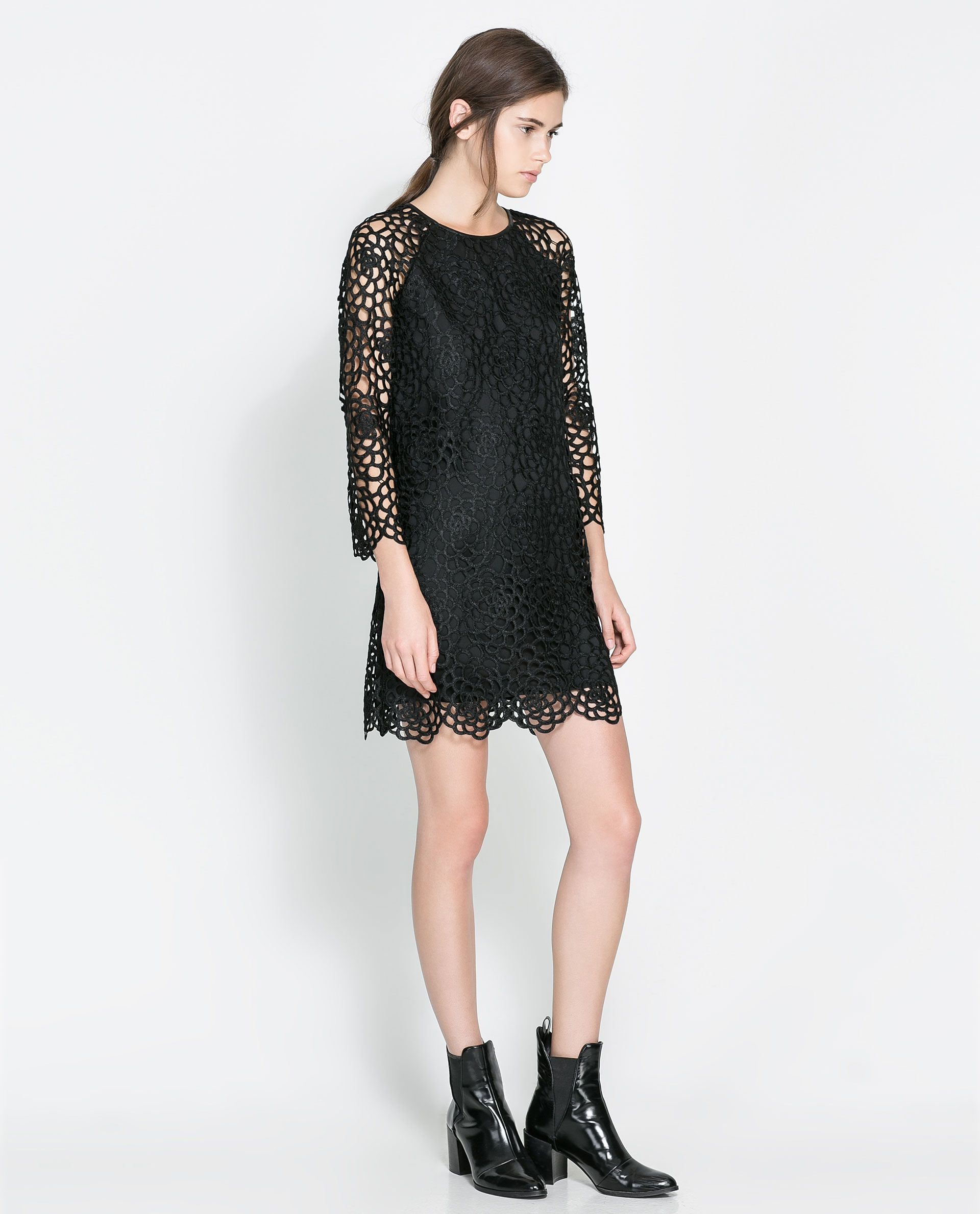 25ae54594ce9e ZARA - WOMAN - LACE DRESS | Great Buys | Lace dress black, Dresses ...