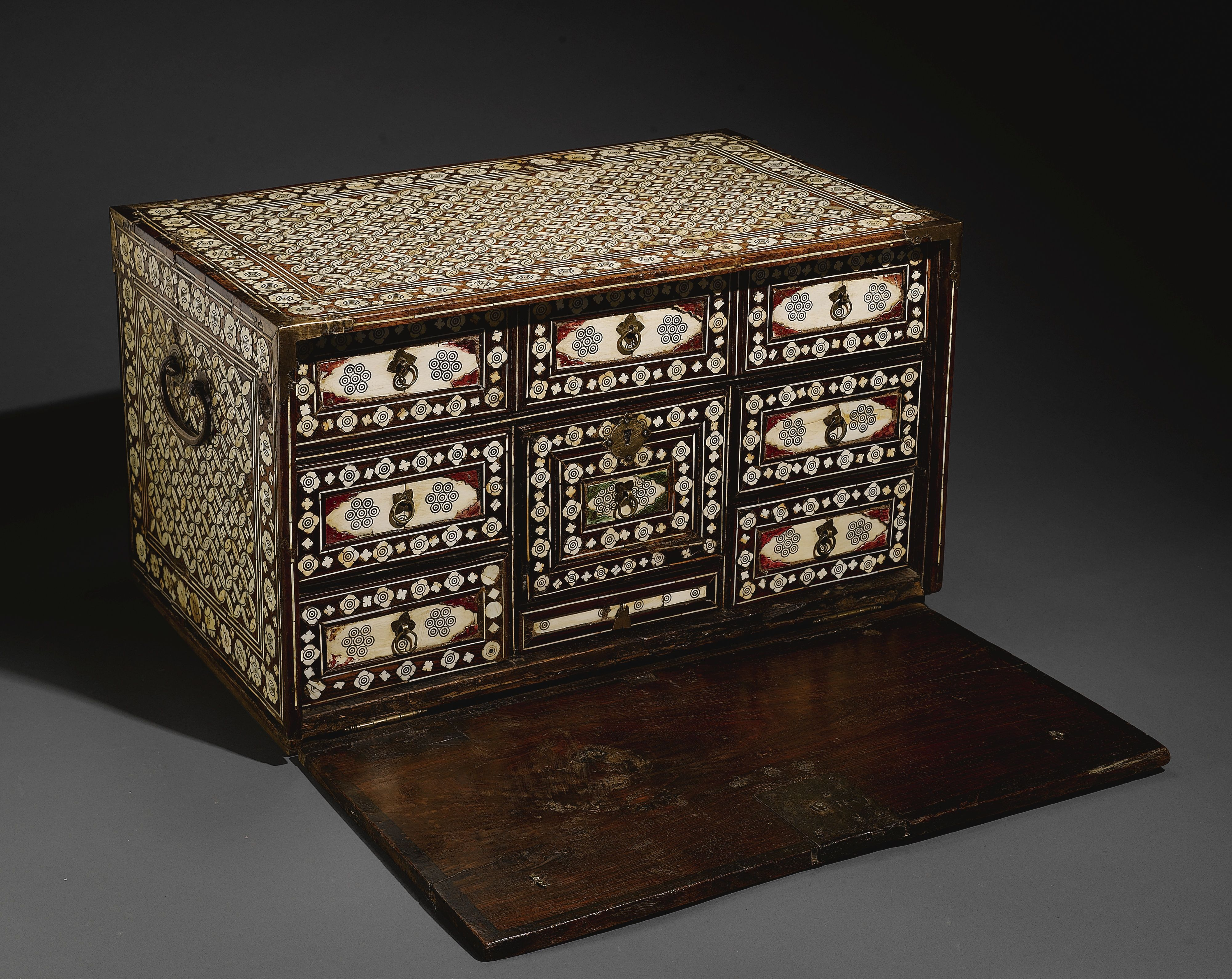 Muebles De La India A Large Indo Portuguese Ivory Inlaid Scribe 39s Cabinet