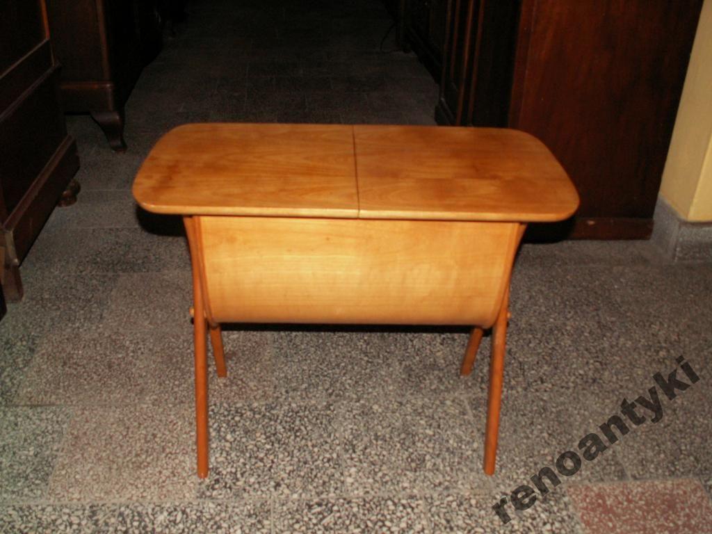 Jesionowy Stolik Ze Schowkiem Vintage 5175319374 Oficjalne Archiwum Allegro Side Table Decor Home Decor