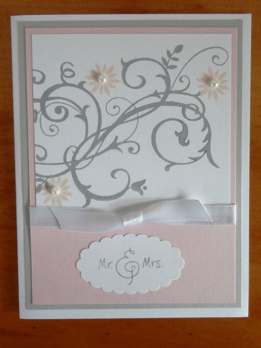 Stampin Up Handmade Card Wedding Anniversary Bridal Shower By