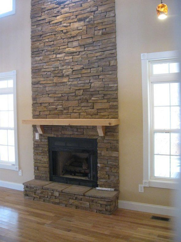 charming stone wall interior design ideas   Charming Gas Fireplace Stone Surround #3 Fabulous Floor To ...