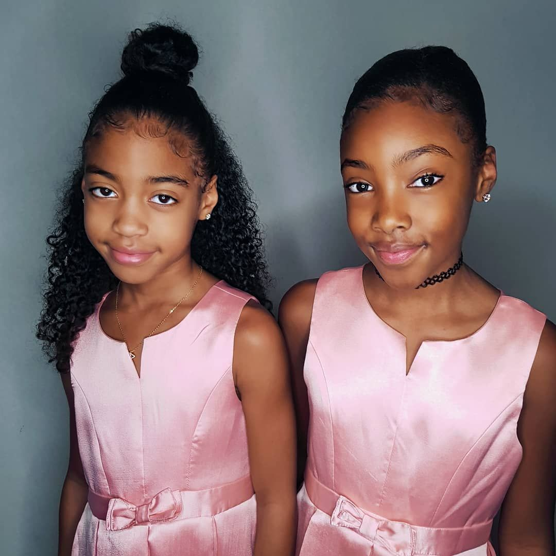 "Shanillia and Janelle's Instagram post: ""Happy New Year everybody!! 🎉🎉🎉🎉🎉🎉🎉🎉🎉🎉🎉 - #blackkids #naturalhairjourney #protectivestyles #blackboldandnatural #healthyhairjourney…"""