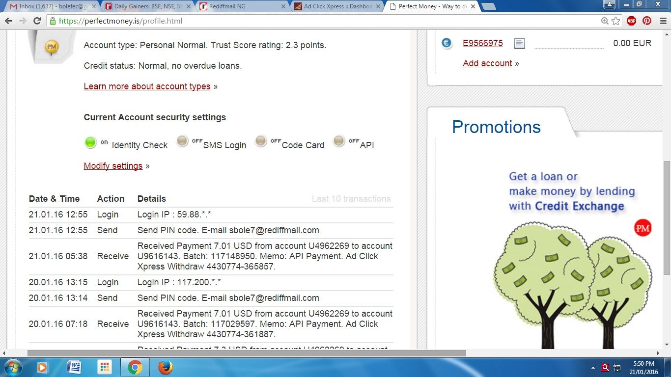 EARN DAILY INCOME WITH ADCLICKXPRESS.COM Hi friends! There is great news for all of us. We can easily earn money on ACX. Daily I am GETTING PAID at ACX. It takes only few minutes and you get very good payment. It is NOT A SCAM PROGRAM. If you want to earn money then go to http://www.adclickxpress.com/?r=43wffy3mf7a&p=acxhp
