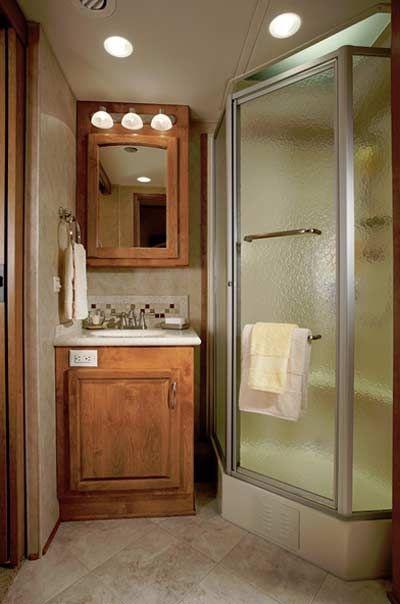 2011 Monaco Cayman luxury motorhome bathroom | Rv bathroom ...