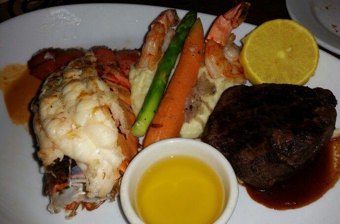 Menage trois  Lobster steak and shrimp  Voodoo steakhouse in