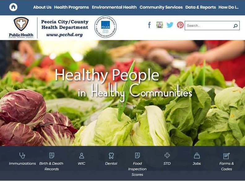 Our new website peoria citycounty health department