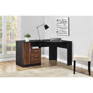 3f48b2a7378 Ameriwood Home Avalon Cherry  Black Corner Desk Black Corner Desk
